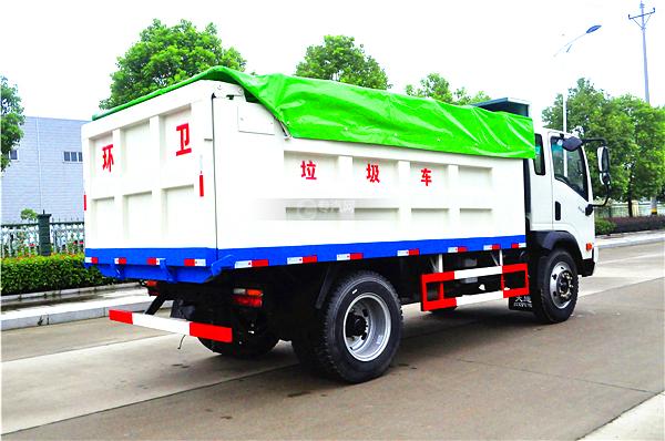 6大运奥普力带斗篷式自卸式垃圾车