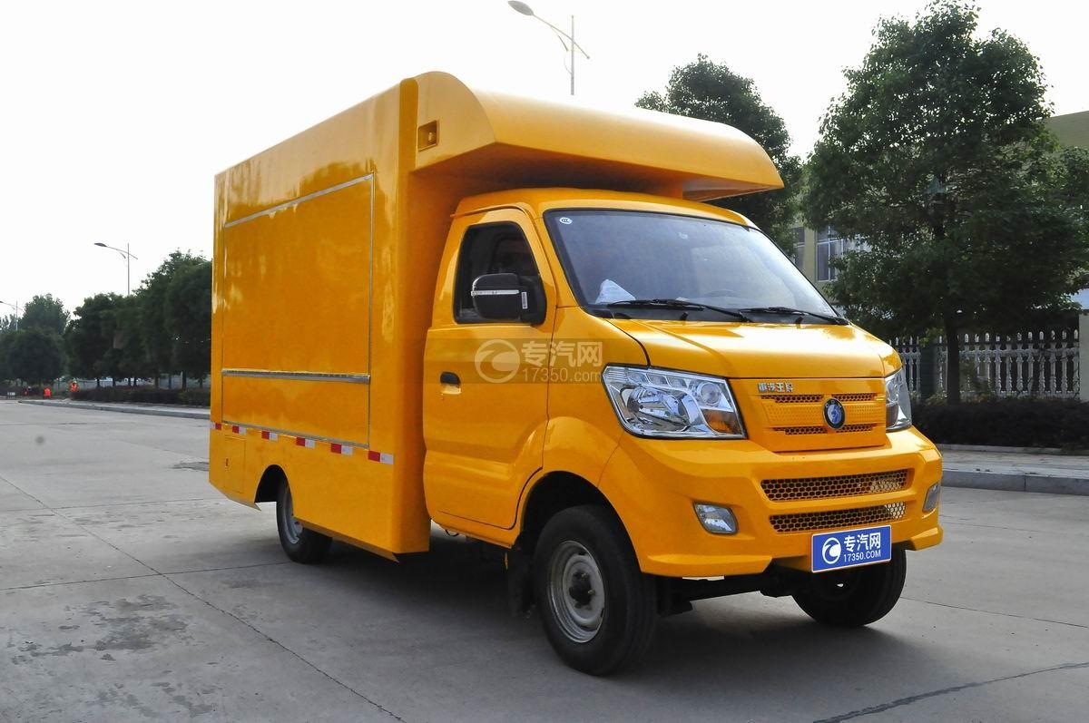重汽王牌W1售货车(黄色)右侧45°图