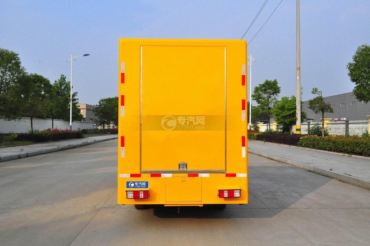 重汽王牌W1售货车(黄色)后面图