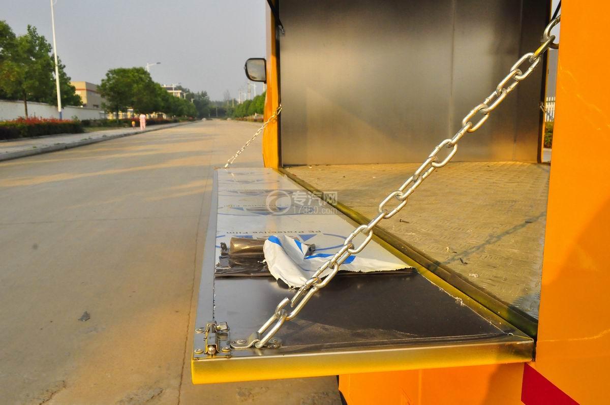重汽王牌W1售货车(黄色)侧面展开细节1