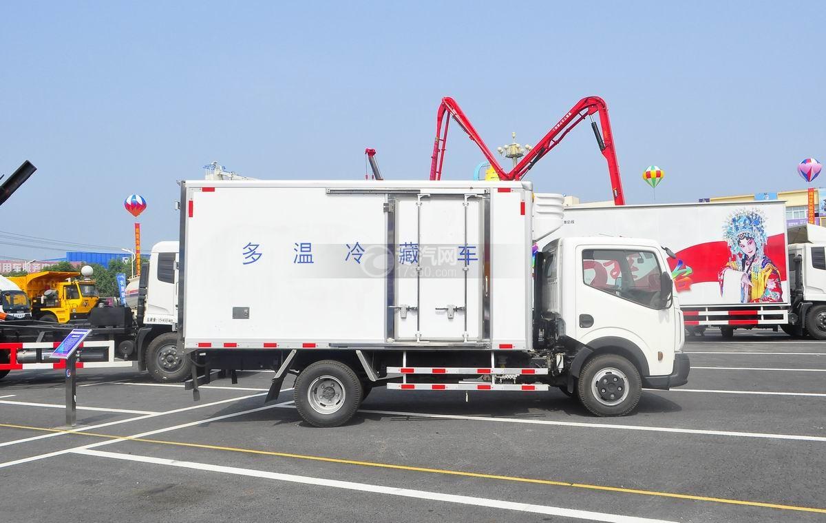 东风日产多温冷藏车右侧面图
