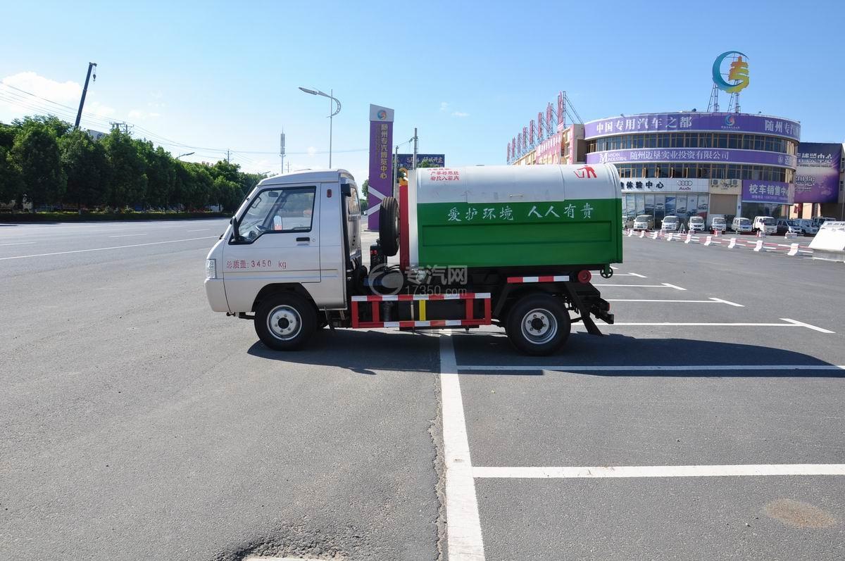 东风凯马车厢可卸式垃圾车左侧图