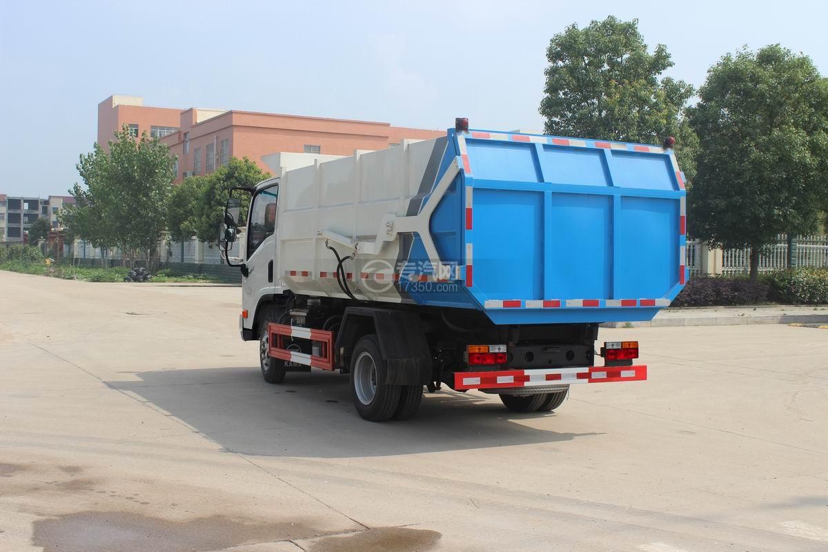 大运奥普力5-6方自装卸式垃圾车左后图