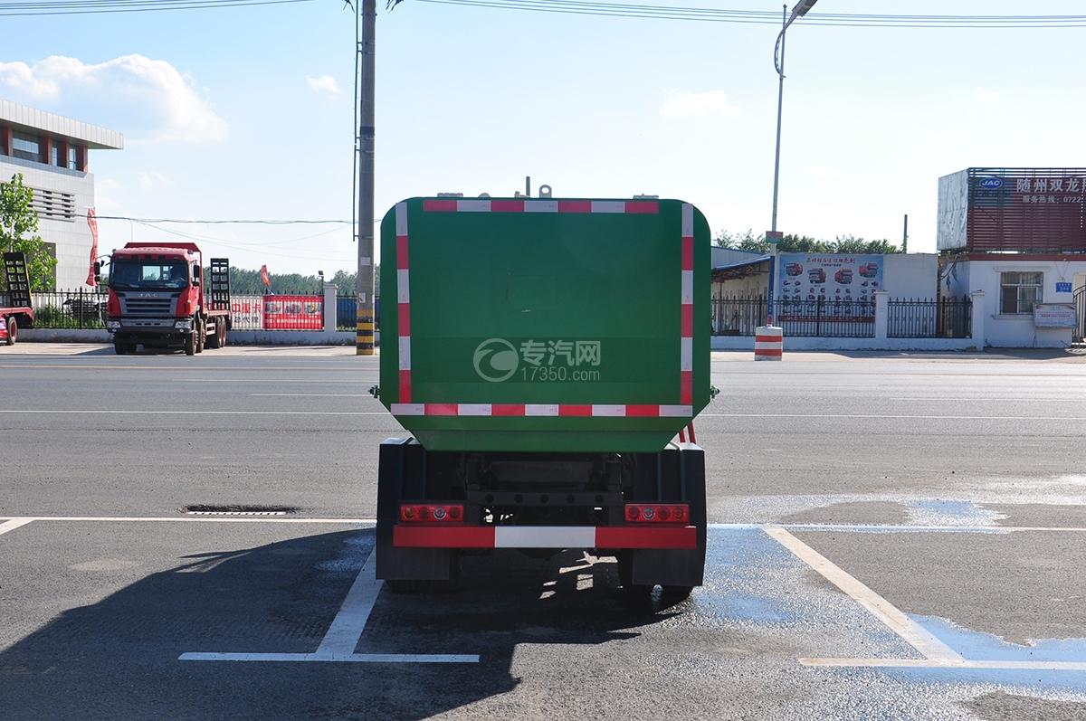 东风凯马3方自装卸式垃圾车后面图