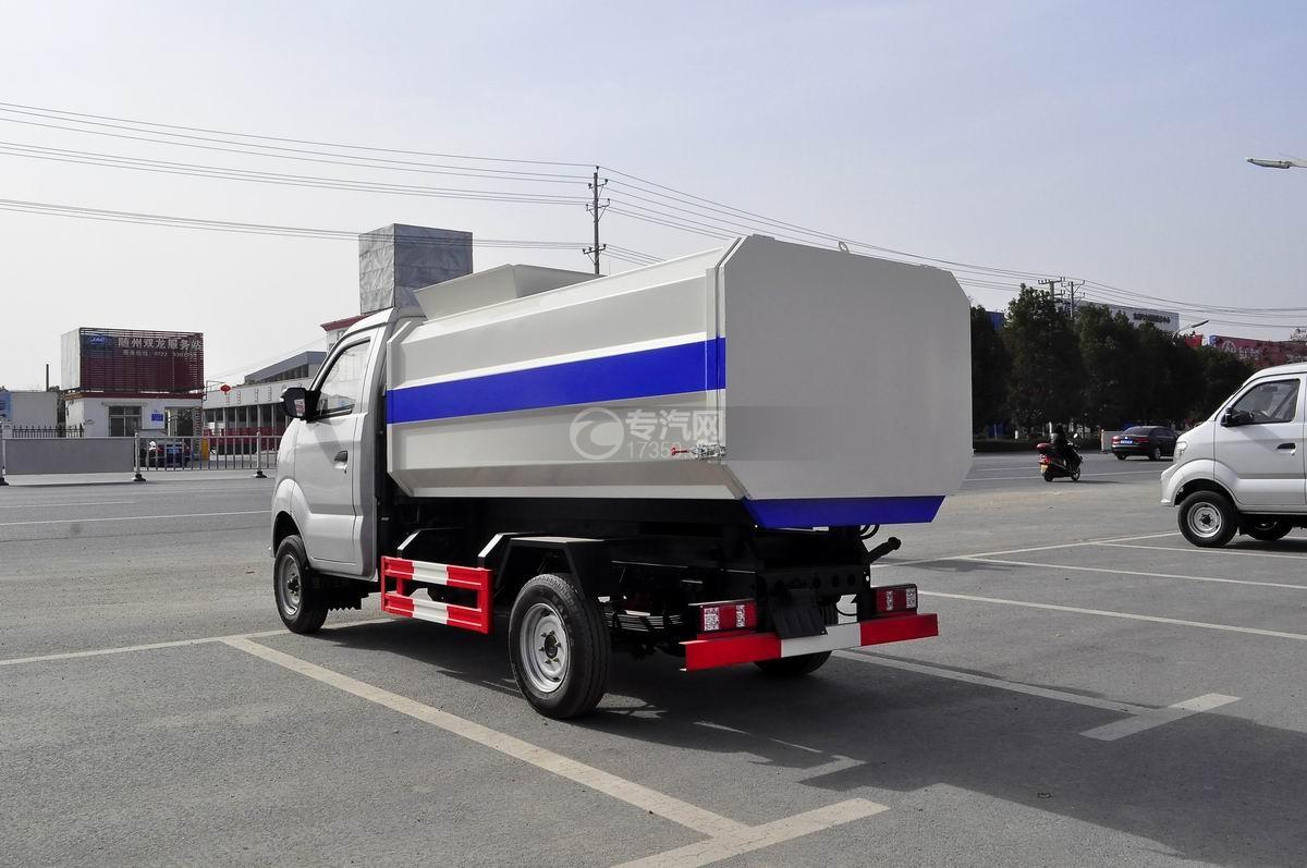 重汽王牌W1自装卸式垃圾车左后图