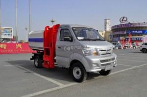 重汽王牌W1自装卸式垃圾车图片
