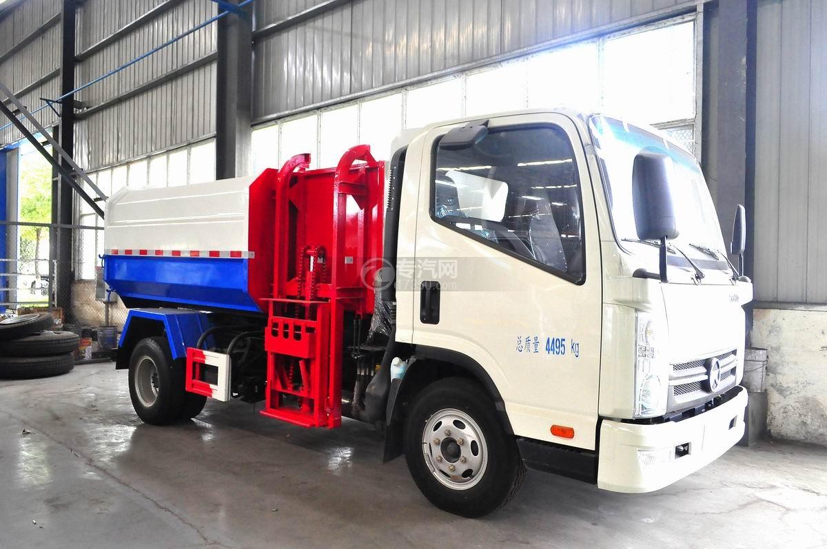凯马凯捷5-6方自装卸式垃圾车图片