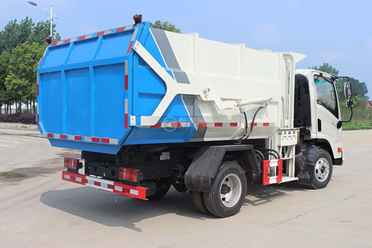 大运奥普力压缩式对接垃圾车右后图