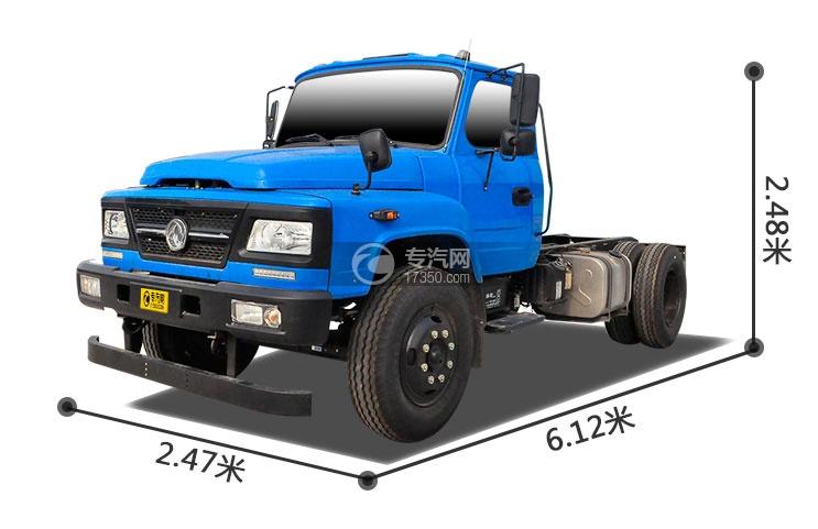 东风尖头牵引车教练车外观尺寸大图