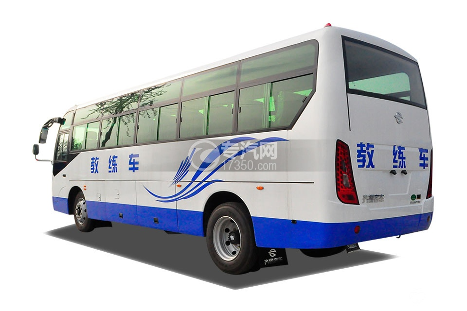 齐鲁23座客车教练车左后45°方位图