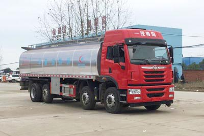 解放悍V前四后六17.89m³鲜奶运输车
