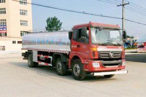 福田欧曼小三轴15.6m³鲜奶运输车