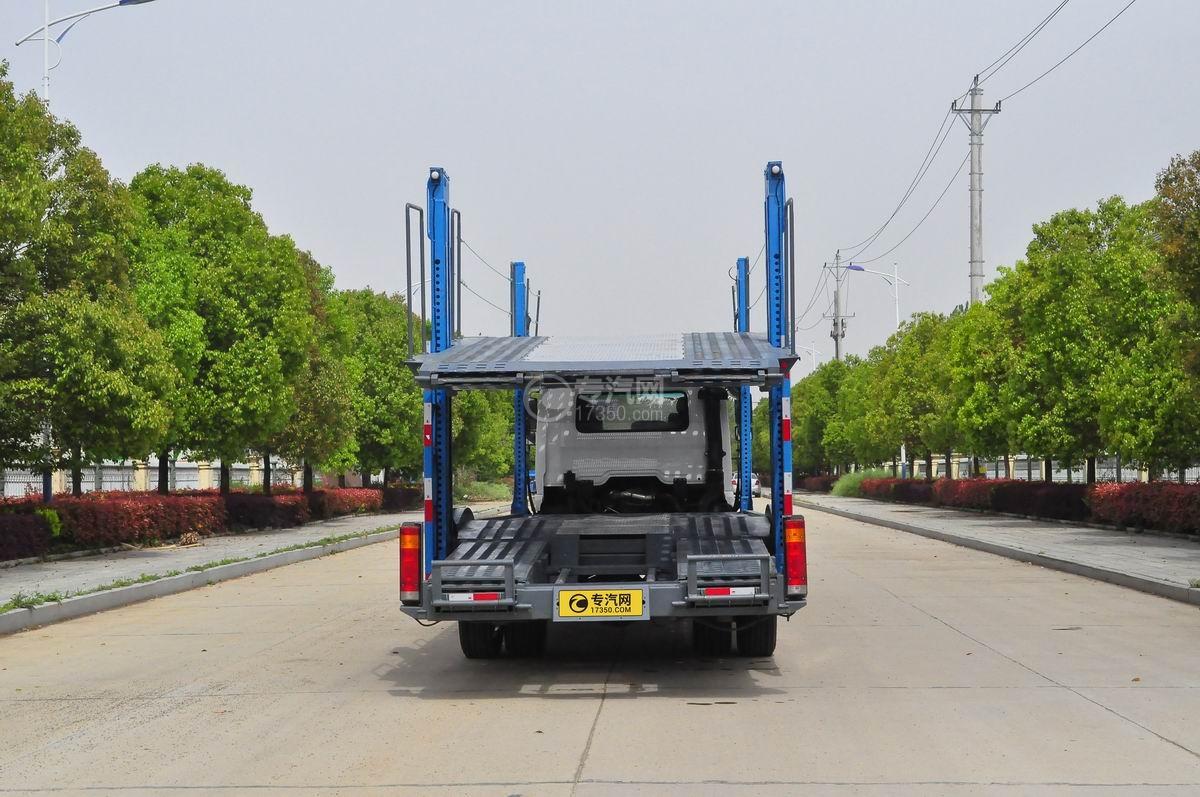 陕汽X6单桥轿运车后面图
