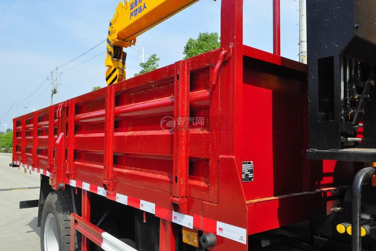 大运奥普力排半3.2吨直臂随车吊货箱