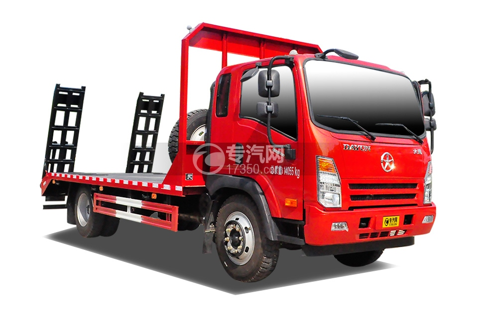 大运奥普力4.4米平板运输车