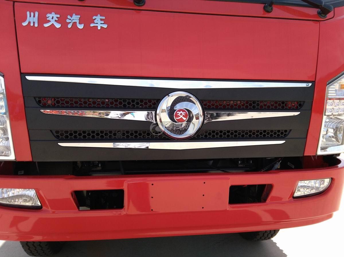川交蓝牌单桥CJ3041D5AB自卸车正面局部