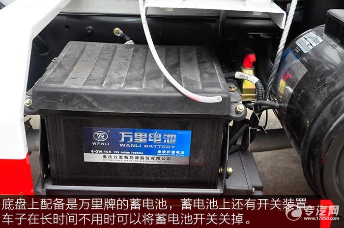 大运奥普力搅拌车的蓄电池