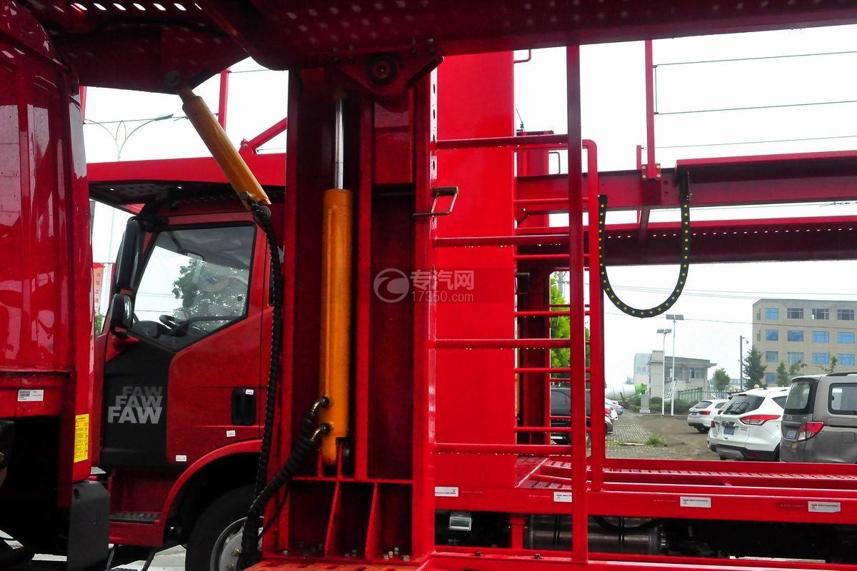 解放龙V单桥轿运车液压油缸