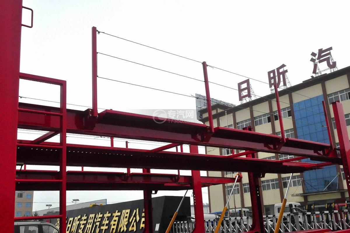 解放龙V单桥轿运车二层板