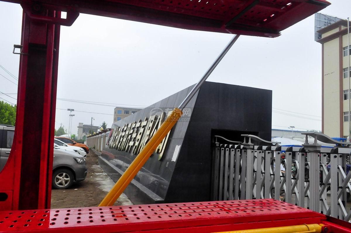 解放J6单桥轿运车后侧油缸