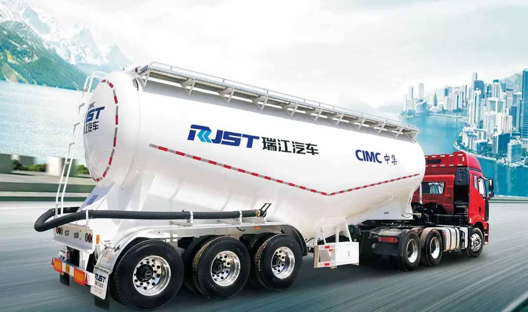 中集瑞江推出高强度轻量化粉罐车