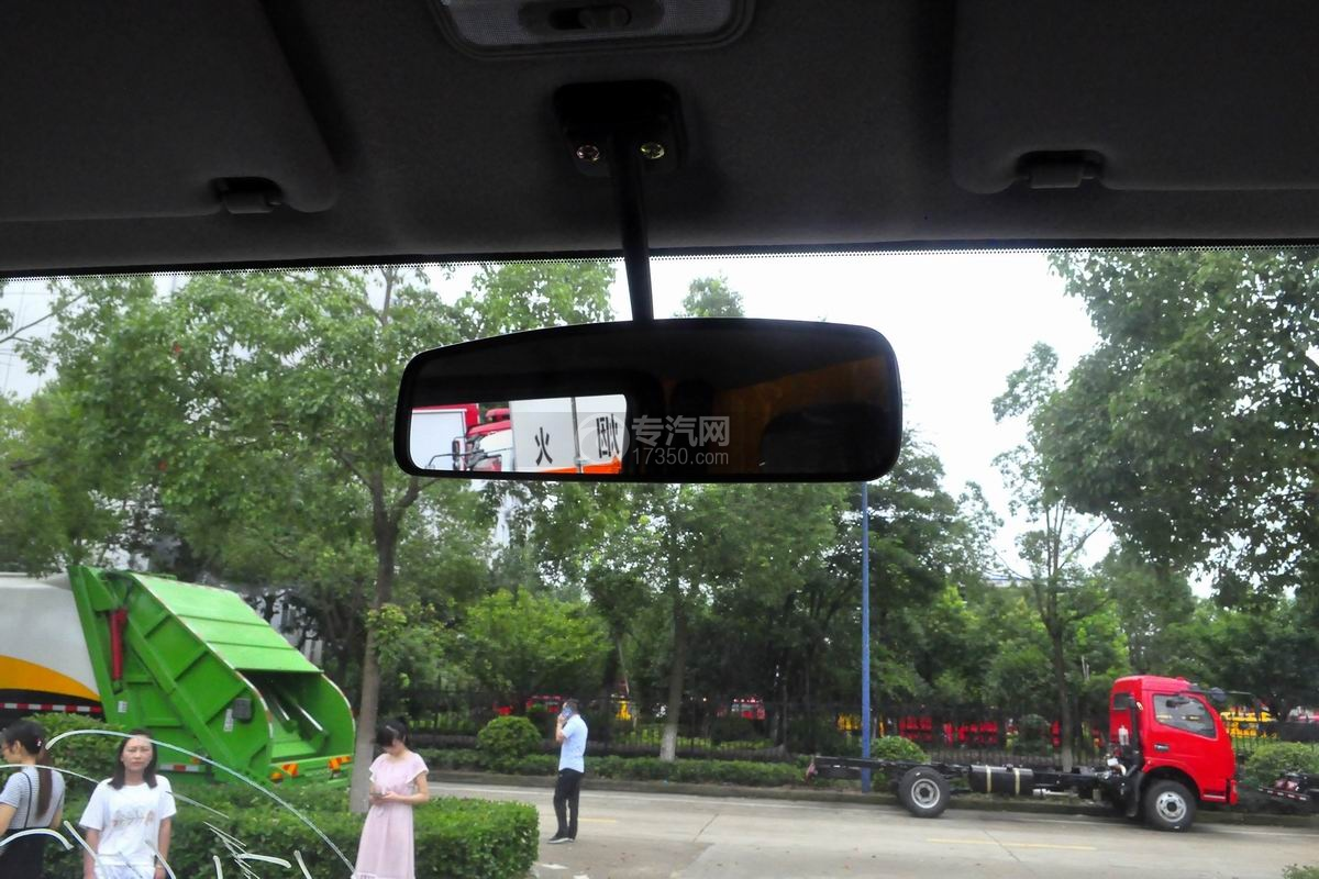 江淮骏铃V5蓝牌一拖二清障车驾驶室内后视镜