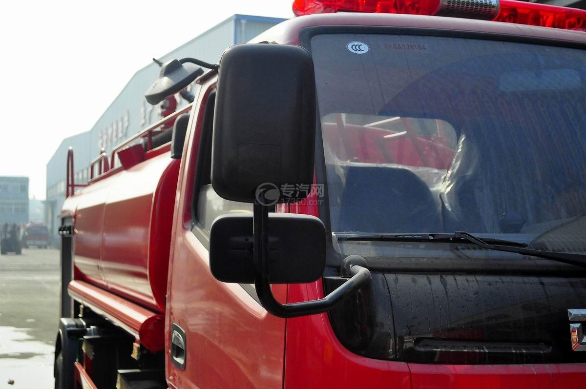 右镜45度图多利卡D6单桥水罐消防车
