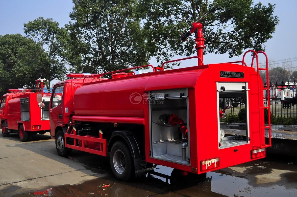 左后45度图多利卡D6单桥水罐消防车