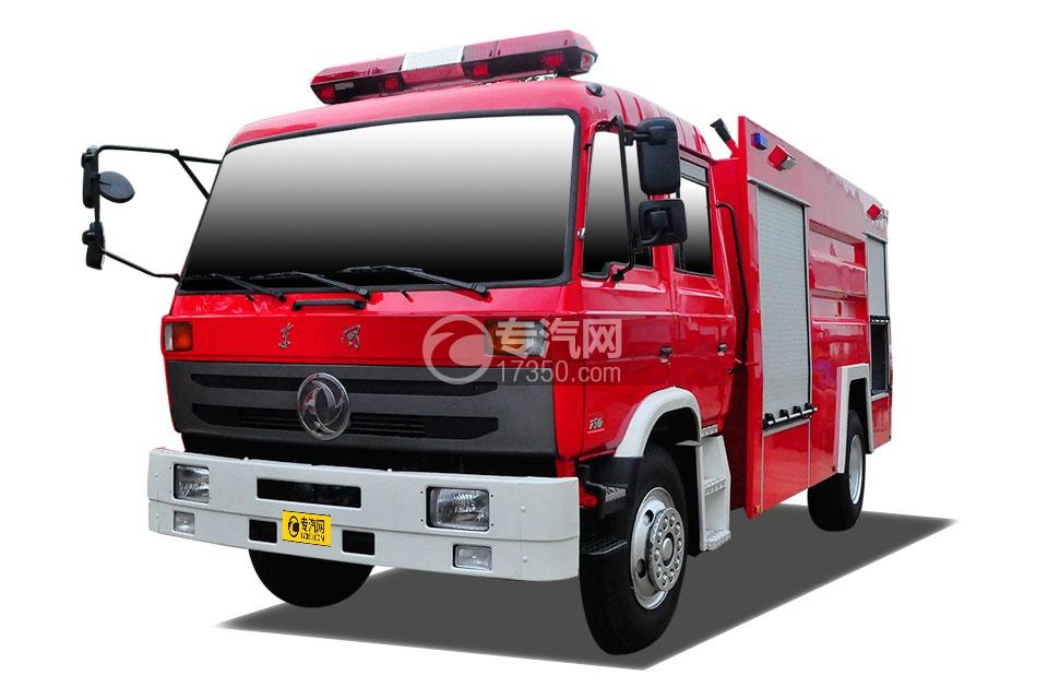 东风153双排座水罐消防车