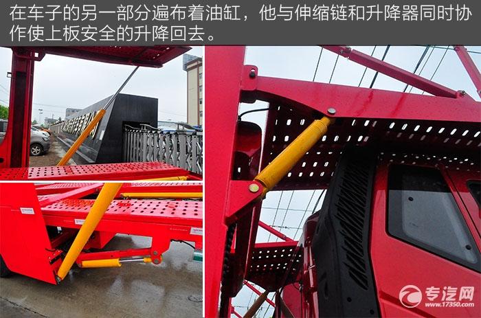 解放J6单桥轿运车油缸