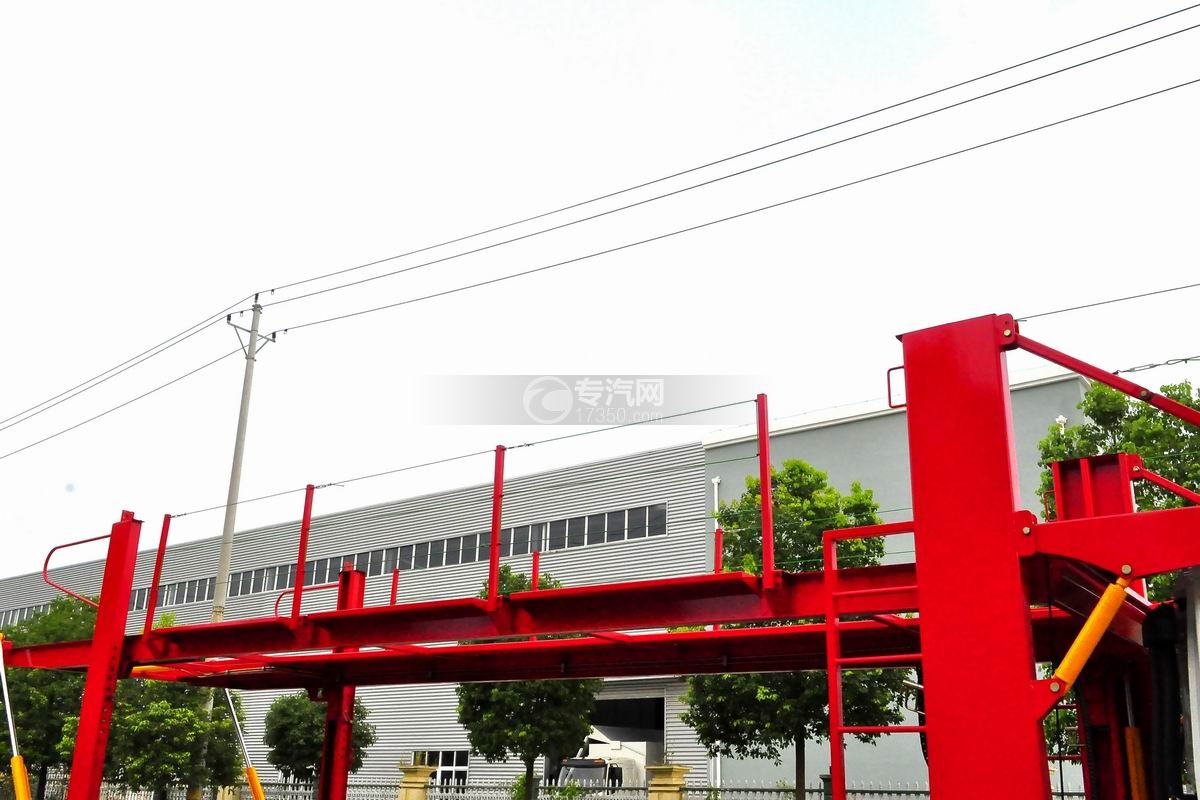 陕汽轩德X6单桥国五轿运车上层板防护栏