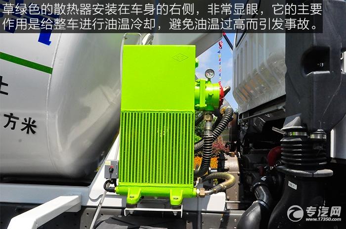 重汽王牌单桥3.25方混凝土搅拌车的散热器