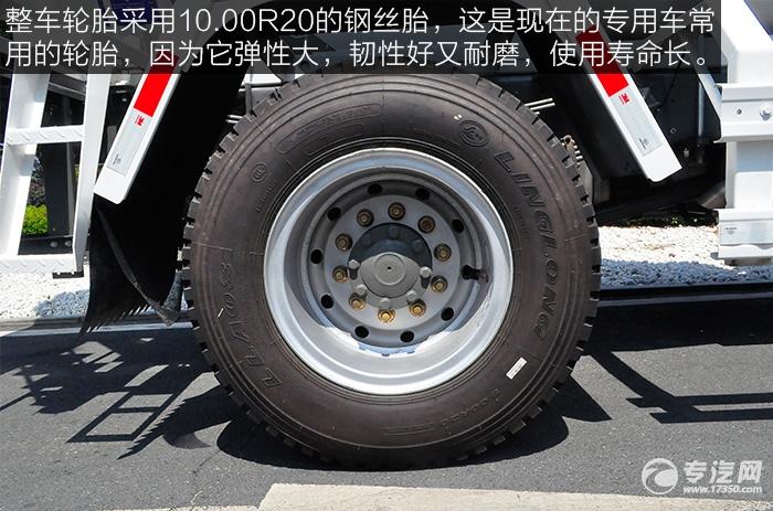 重汽王牌单桥3.25方混凝土搅拌车的轮胎