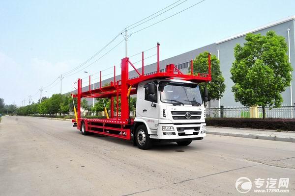 简述陕汽轩德X6单桥国五轿运车装车过程