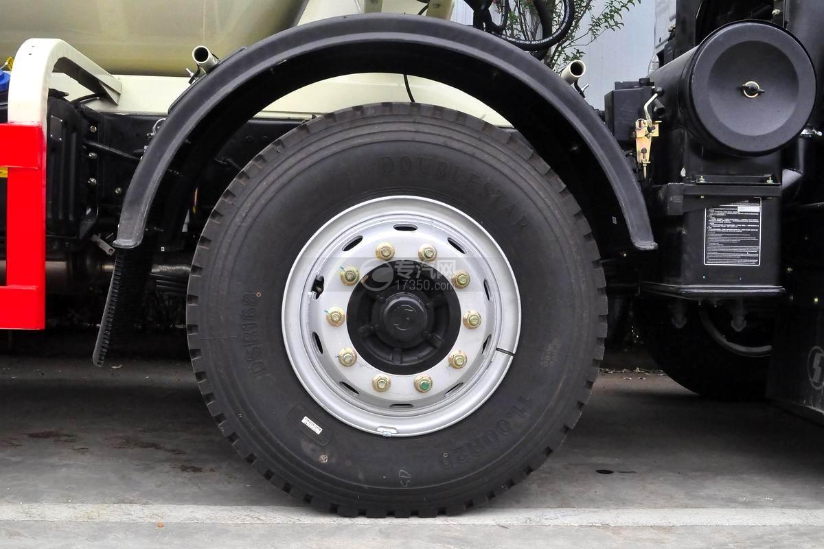 陜汽軒德X6前四后八12方攪拌車輪胎
