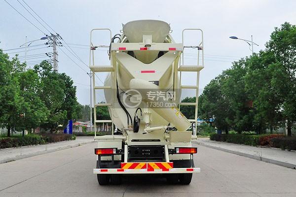 陕汽轩德X6前四后八国五12方混凝土搅拌车后方位图