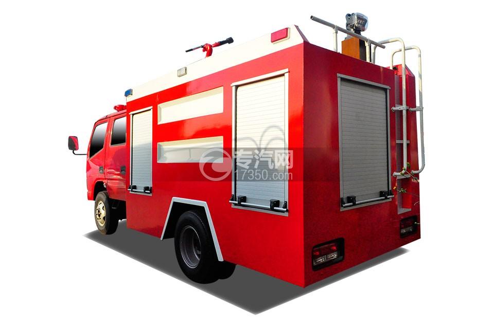 东风小多利卡消防车侧后方图