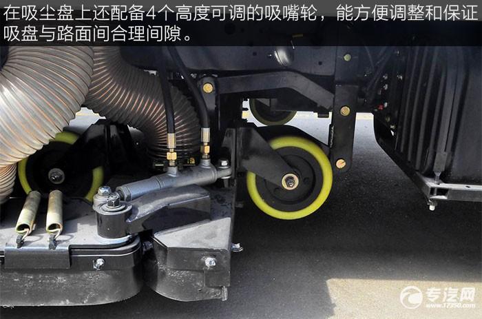 东风多利卡吸尘车吸盘脚轮