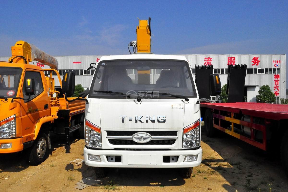 唐骏金刚588 3.2吨随车吊(白色驾驶室)正方位图