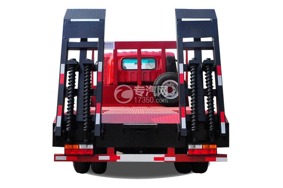 大运奥普力3550轴距平板运输车后方图