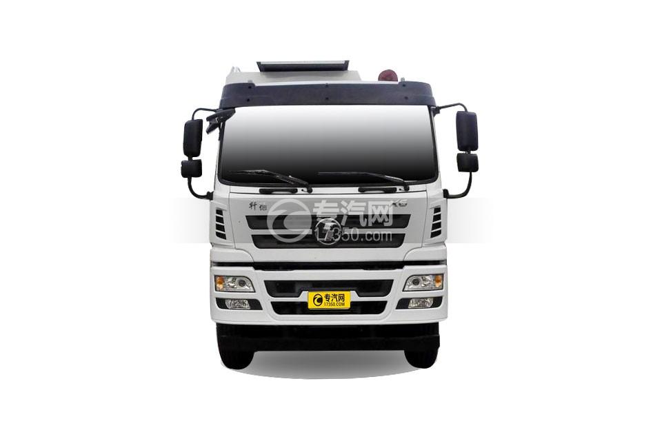 陕汽轩德X6小三轴散装饲料运输车 27方正面图
