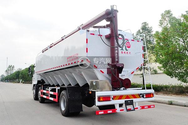 陕汽轩德X6小三轴散装饲料运输车 27方侧后方图