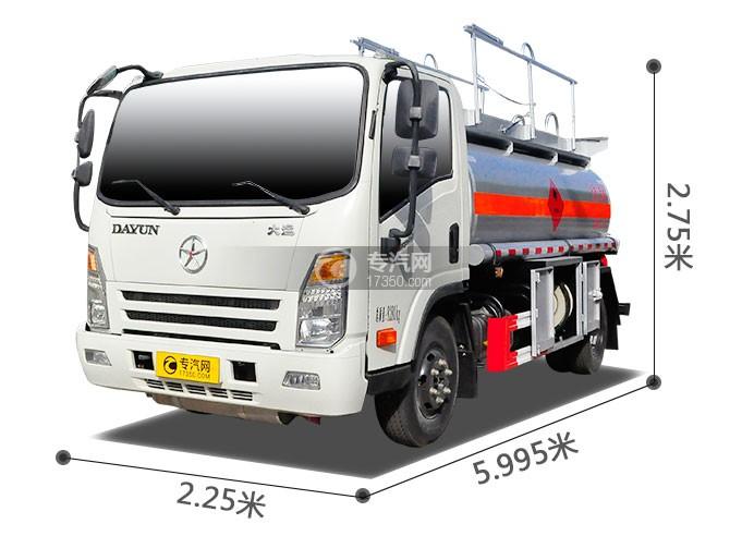 大运奥普力6方加油车外观尺寸图