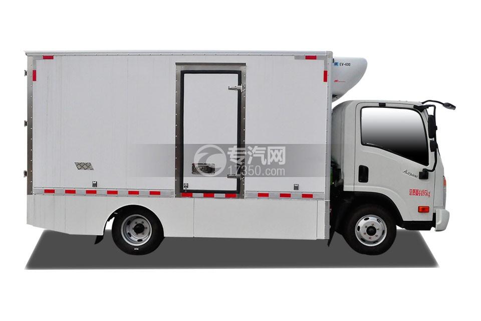 成都大运电动冷藏车右侧图