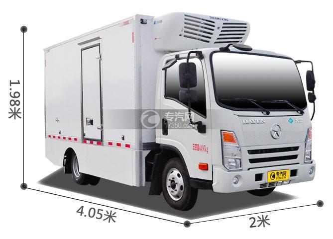 成都大运电动冷藏车尺寸图