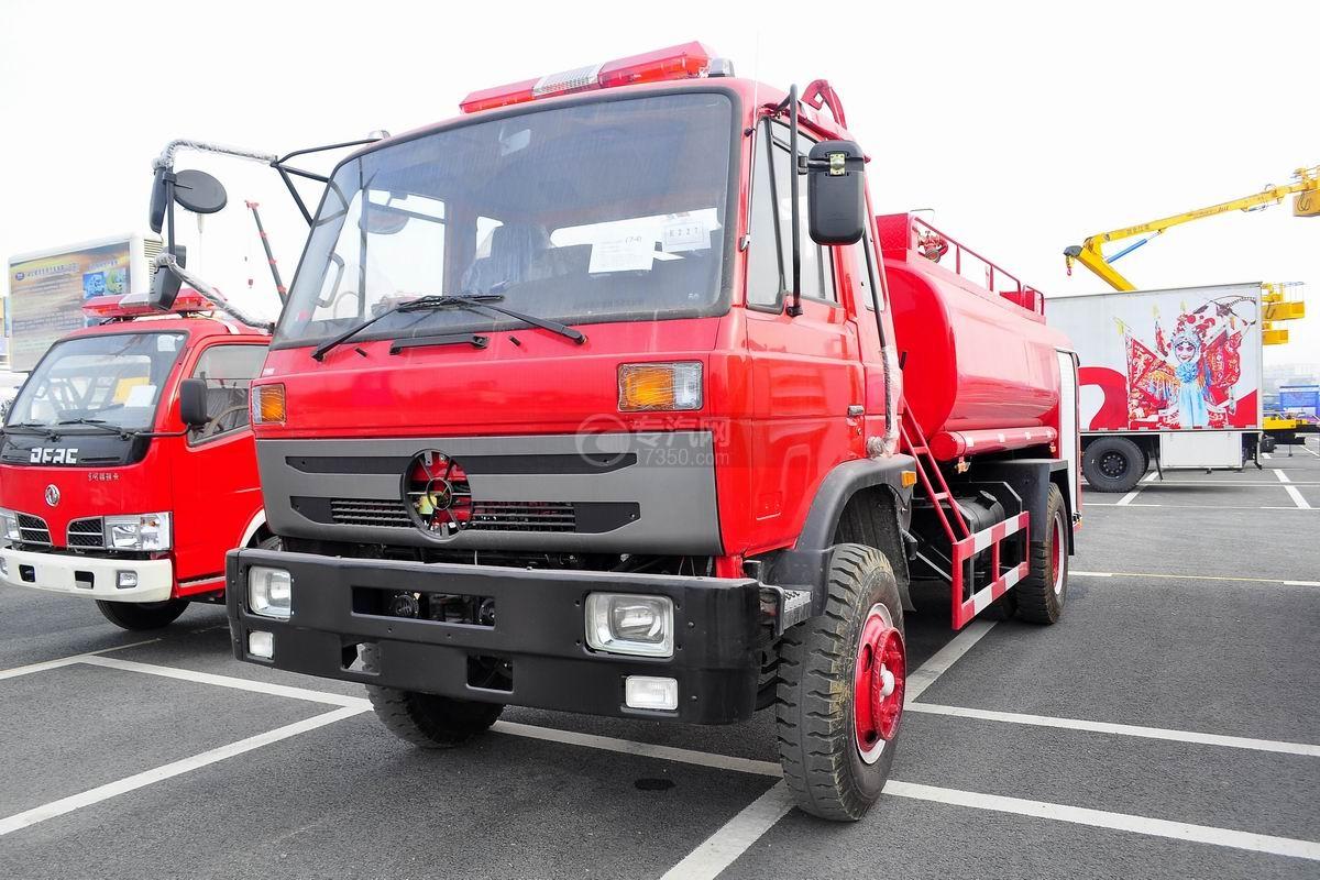 东风145消防车带水罐图片