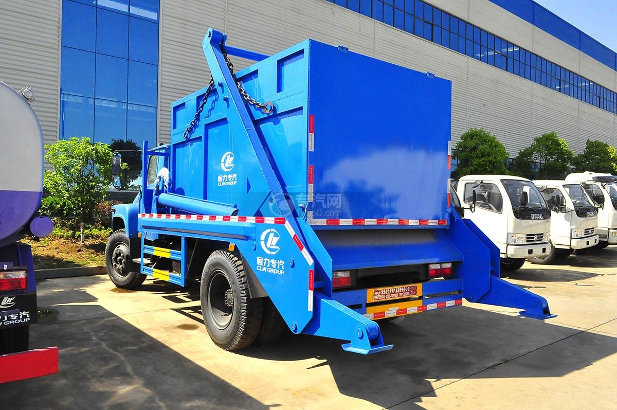 东风140摆臂式垃圾车侧面图