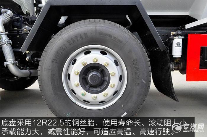 陕汽轩德X6小三轴散装饲料运输车钢丝胎