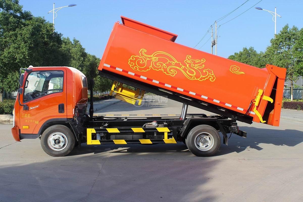 大运奥普力侧装压缩垃圾车侧面展开图