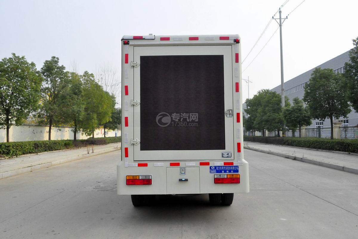 大运奥普力LED广告车后面图